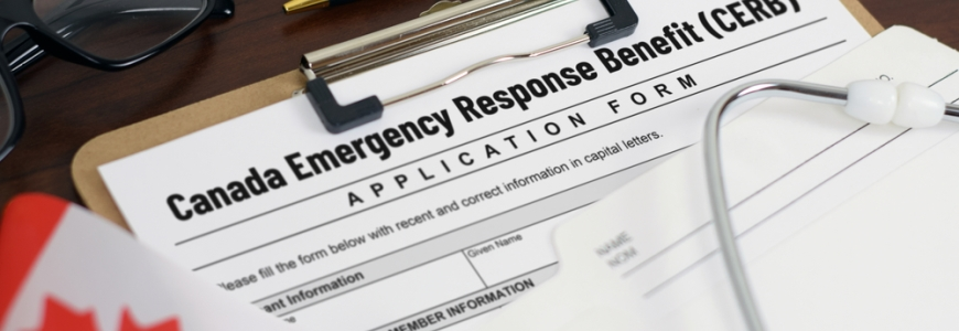 Canada Emergency Response Benefit application form