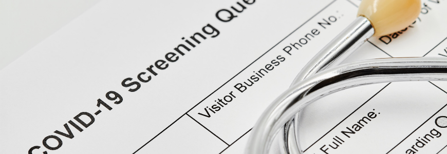 COVID screening questionnaire form